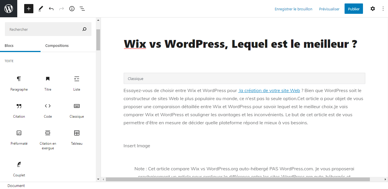 Que vaut WordPress pour blogguer