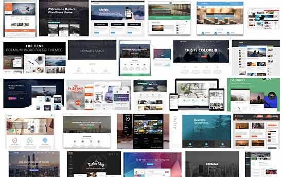 Templates et thèmes illimités de WordPress