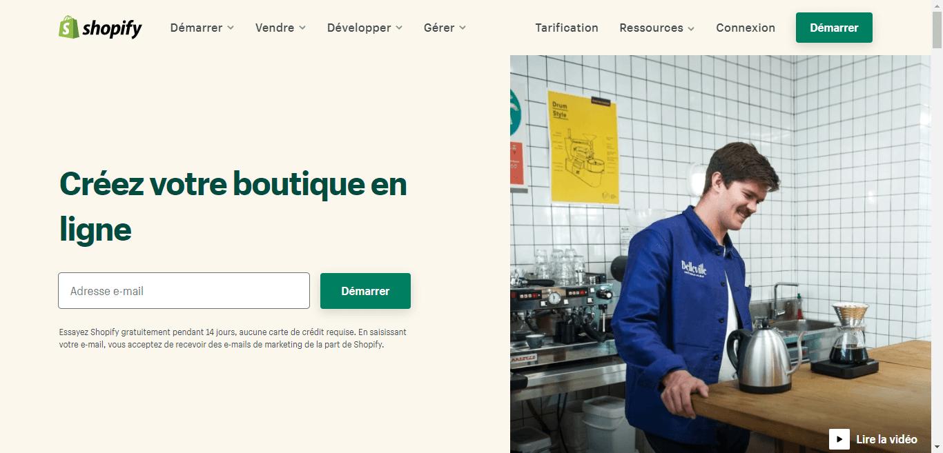 Shopify pour créer une boutique e-commerce facilement