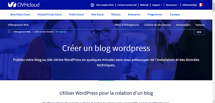 La Création d'un Site WordPress avec OVH