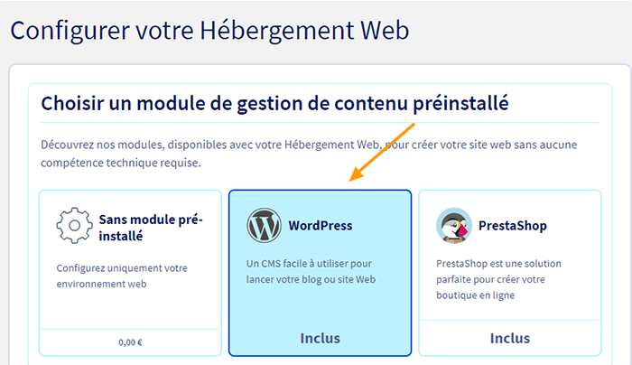 Module WordPress OVH