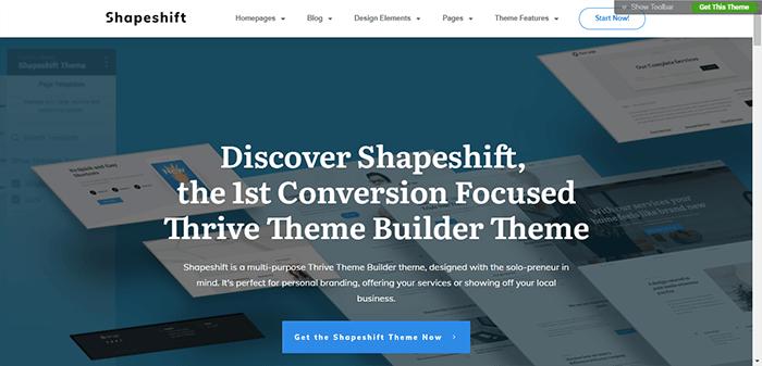 Shapeshift Thrive Themes