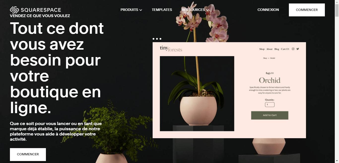 Squarespace pour créer votre boutique en ligne